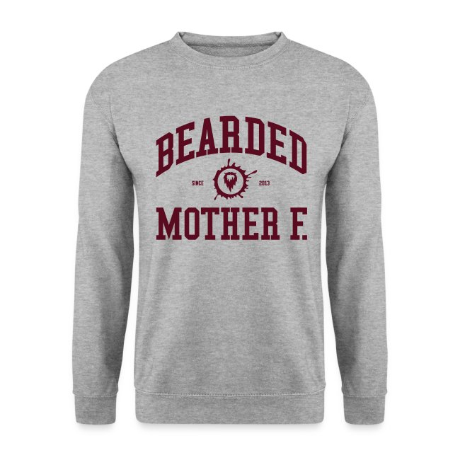 Bearded Mother F. - Men's Crewneck (Oxblood print)