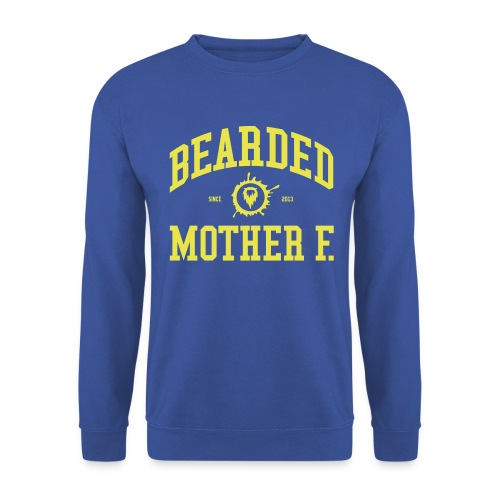 Bearded Mother F. - Men's Crewneck (Yellow print) - Mannen sweater