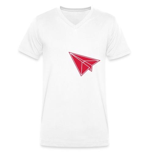 Fliegendes Papier - Männer Bio-T-Shirt mit V-Ausschnitt von Stanley & Stella