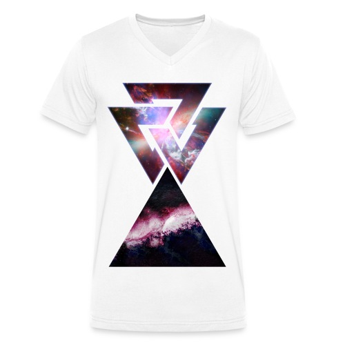 Universumdreieck - Männer Bio-T-Shirt mit V-Ausschnitt von Stanley & Stella