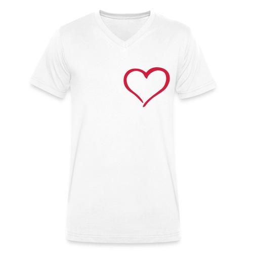 Herz-Platz - Männer Bio-T-Shirt mit V-Ausschnitt von Stanley & Stella
