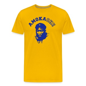 Men's AMO t-shirt (yellow) - Men's Premium T-Shirt