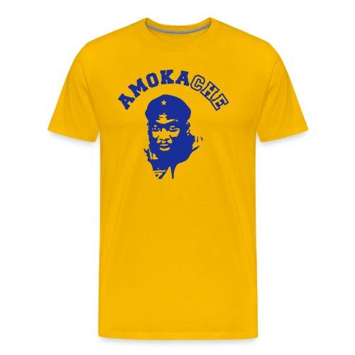 Men's AMO t-shirt (yellow) - Men's Premium T-Shirt