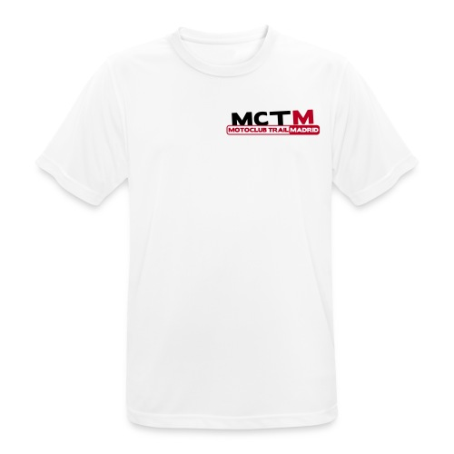 Camiseta blanca transpirable MCTM - Camiseta hombre transpirable