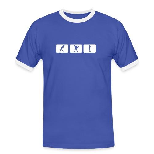 SR - T-Shirt (blau/weiß) - Männer Kontrast-T-Shirt