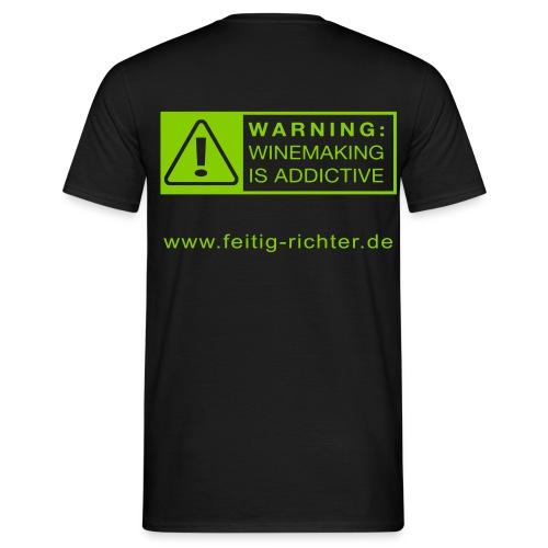Shirt schwarz/grün-14 - Männer T-Shirt