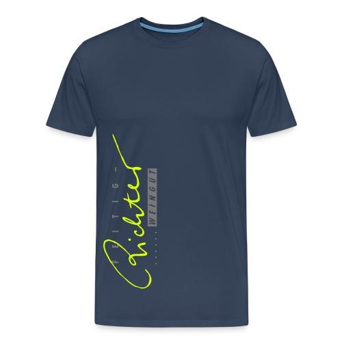 Shirt navy/gelb - Männer Premium T-Shirt