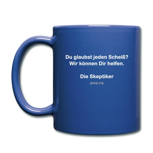 SkeptikerInnen (zweiseitig bedruckt) - Tasse einfarbig