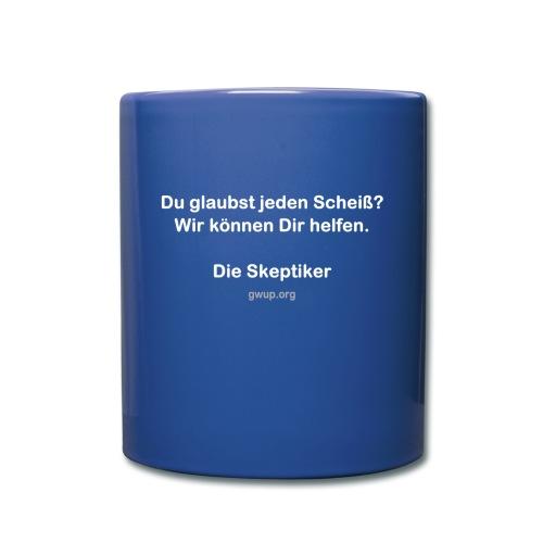SkeptikerInnen (einseitig bedruckt) - Tasse einfarbig