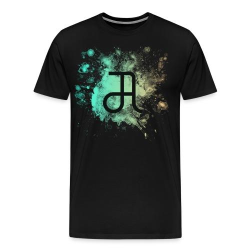 Glyphe Northern Lights ♂ - Männer Premium T-Shirt