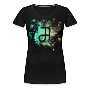 Glyphe Northern Lights ♀ - Frauen Premium T-Shirt