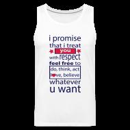 Sportkleding ~ Mannen Premium tank top ~ I promise respect