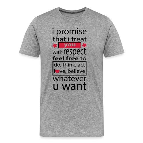 i promise respect - Mannen Premium T-shirt