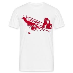 BYE, HONEY! men's red/white - Männer T-Shirt