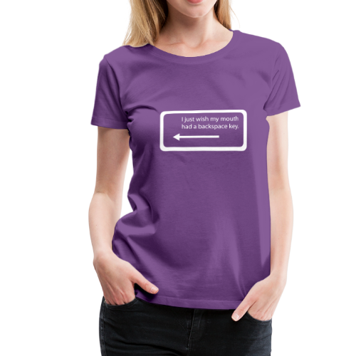 Backspace (dames) - Vrouwen Premium T-shirt