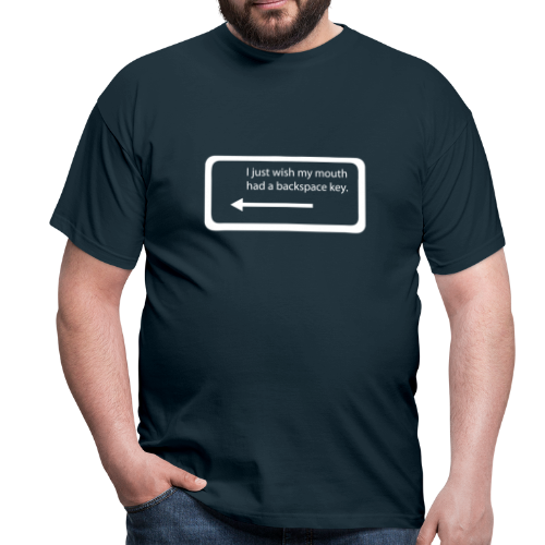 Backspace - Mannen T-shirt