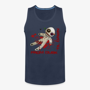 Men's Premium Tank Top - Superior quality mens vest with the From Dusk 'til Dawn Voodoo Doll logo