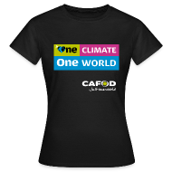 T-Shirts ~ Women's T-Shirt ~ One Climate One World campaign Womens T-shirt
