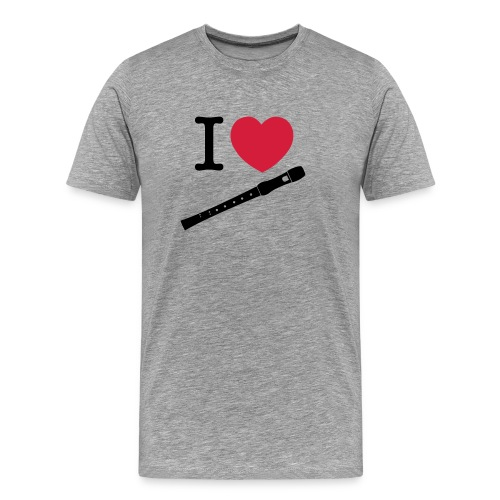 T-shirt I love Flûte à bec - T-shirt Premium Homme