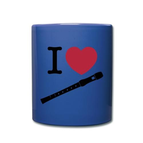 Tasse I love flûte - Mug uni