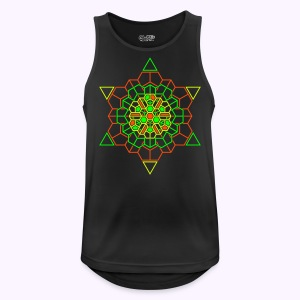 Cosmic Crystal Front Print - Mannen tanktop ademend