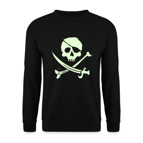 Pirate Crew - Men's Crewneck (White print, glows green in the dark) - Mannen sweater