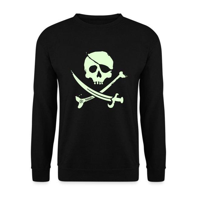 Pirate Crew - Men's Crewneck (White print, glows green in the dark)