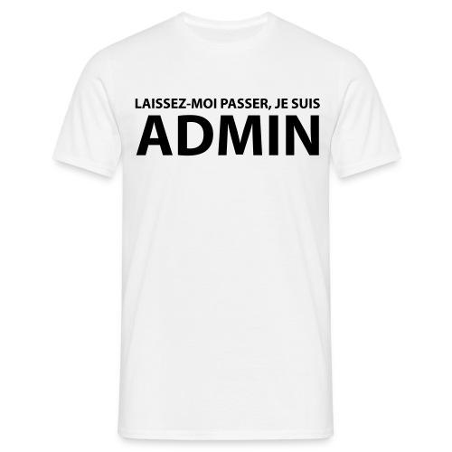 T-shirt B&C - Je suis Admin ! - T-shirt Homme