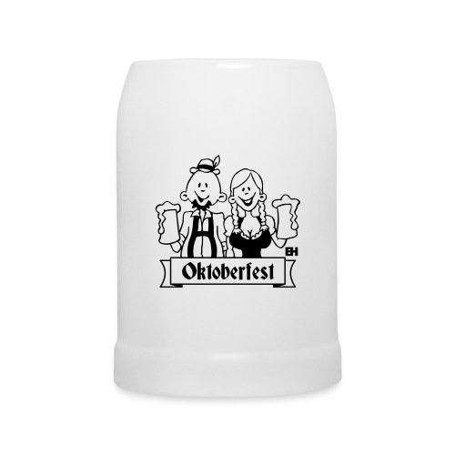 Bierkrug Oktoberfest schwarz weiß - Bierkrug