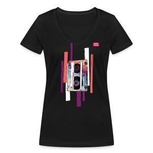 Tee-shirt Cassette - T-shirt bio col V Stanley & Stella Femme