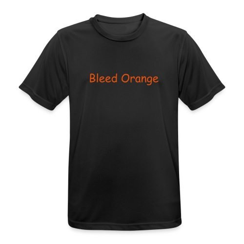 Bleed Orange T-Shirt Black - Men's Breathable T-Shirt