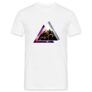 Space & Crowd Triangle Design - Men's T-Shirt
