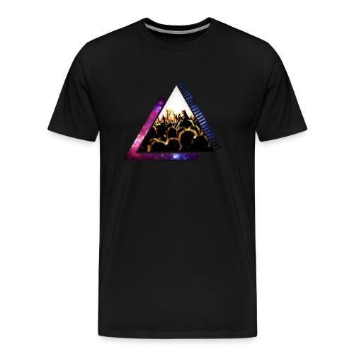 Space & Crowd Triangle Design - Men's Premium T-Shirt