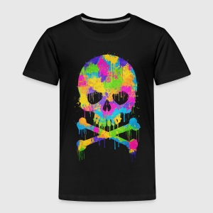 Trendy & Cool Abstract Graffiti Skull  T-shirts - Børne premium T-shirt