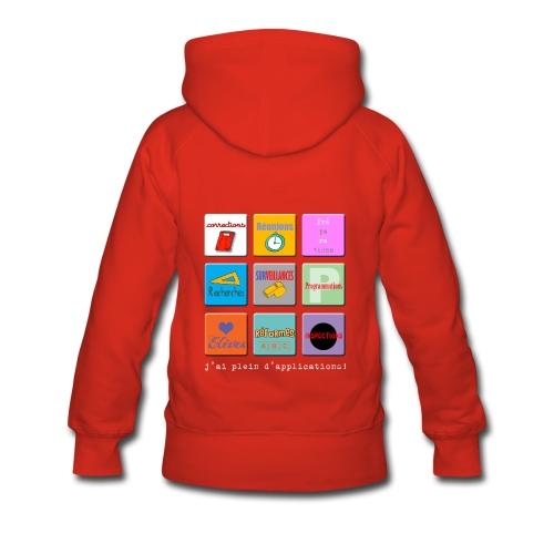 Sweat shirt à capuche femme - applications profs - applications profs - Sweat-shirt à capuche Premium pour femmes