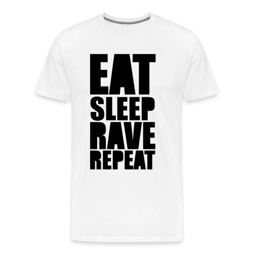EAT SLEEP RAVE REPEAT - Premium T-skjorte for menn