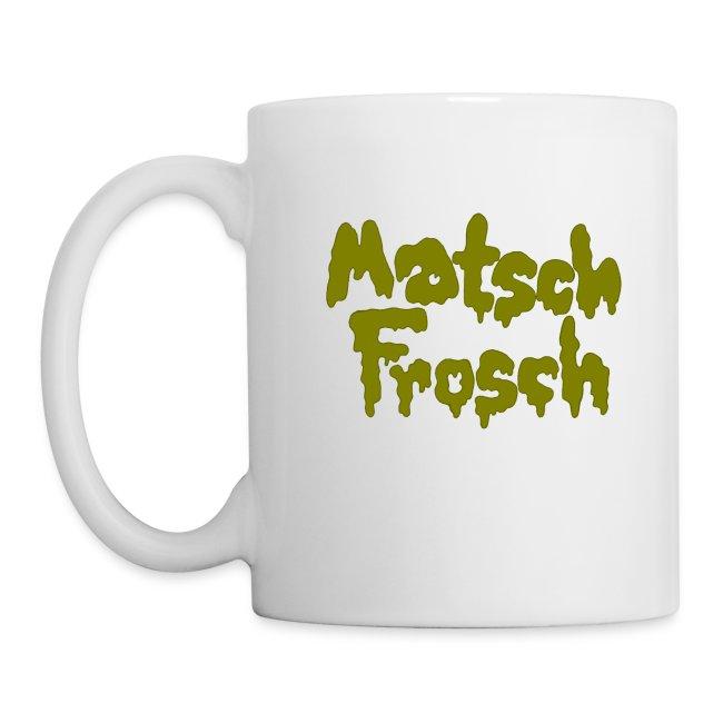 Matschfrosch wirft mit Schlamm