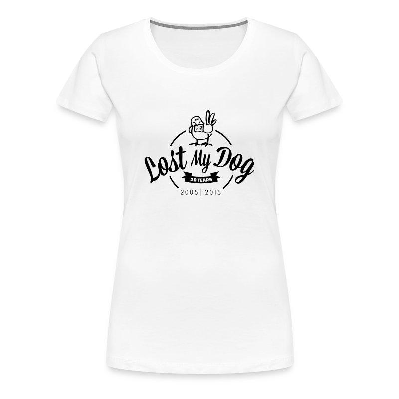Ladies 10 Year T (Black Print) - Women's Premium T-Shirt