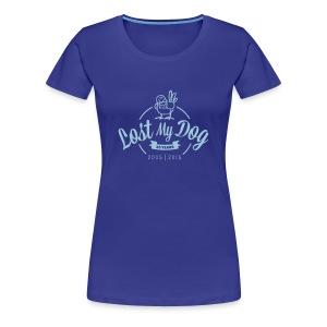 Ladies 10 Year T (Blue Print) - Women's Premium T-Shirt