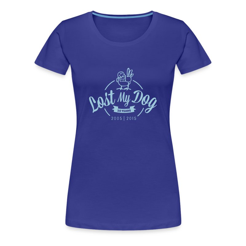 Ladies 10 Year T (Blue Print) - Women's Premium T-Shirt