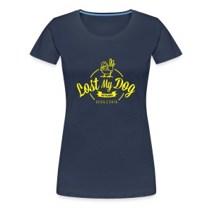 Ladies 10 Year T (Yellow Print) - Women's Premium T-Shirt