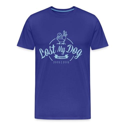 Men's 10 Year T (Blue Print) - Men's Premium T-Shirt