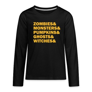 Zombies&monsters&Pumpkins&ghosts&witches - Teenager Premium Langarmshirt