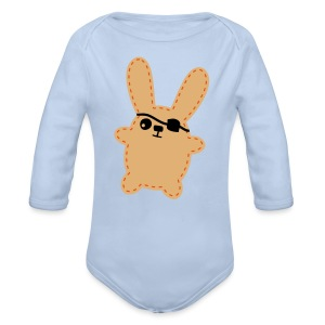 Pirate Bunny - Baby Bio-Langarm-Body