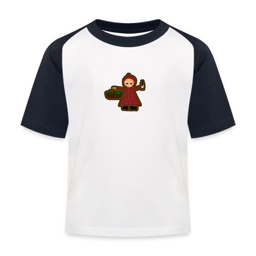 Kinder Baseball T-Shirt Rotkäppchen - Kinder Baseball T-Shirt