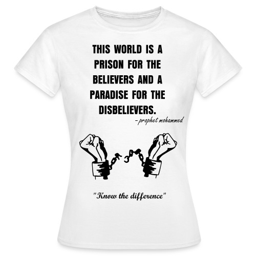Belivers and Disbelievers (Vrouwen) ''Know The Difference'' - Vrouwen T-shirt