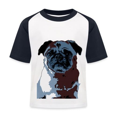 Blue Pug Shirt Child - Kinder Baseball T-Shirt