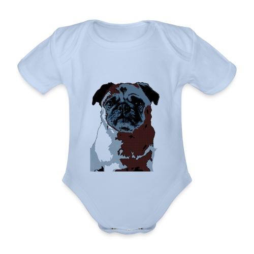 Blue Pug Baby - Baby Bio-Kurzarm-Body