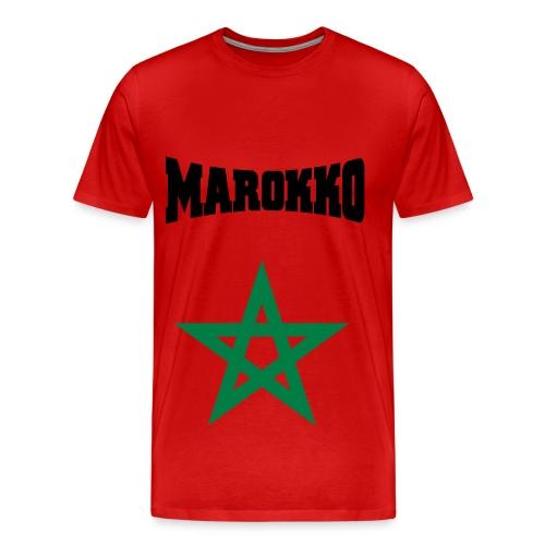 Mannen t-shirt met Marokkaans logo - Mannen Premium T-shirt