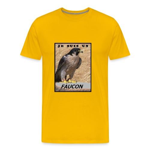 TSHIRT JAUNE HOMME JE SUIS UN FAUCON - T-shirt Premium Homme